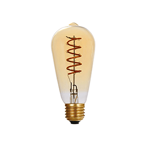 Edison LED Bulb Dimmable ST64 Amber - LUXRAY LIGHTING