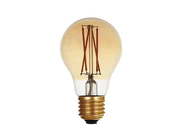 LED Filament Bulb A60 Amber 12W Dim - LUXRAY LIGHTING