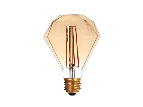LED G95 Diamond Amber - LUXRAY LIGHTING
