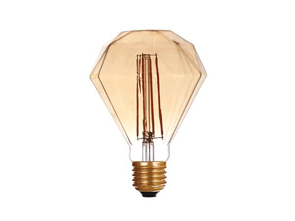 LED G95 Diamond Amber - LUXRAY LIGHTING