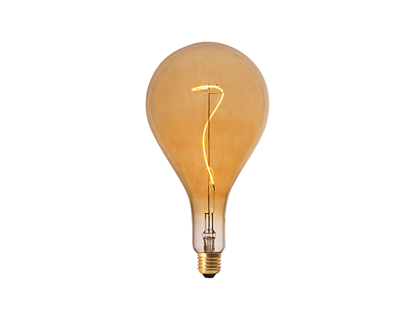 LED Grace Filament PS160 E27 Dimmable Amber - LUXRAY LIGHTING 600450
