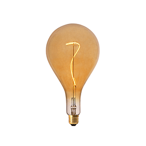 LED Grace Filament PS160 E27 Dimmable Amber - LUXRAY LIGHTING