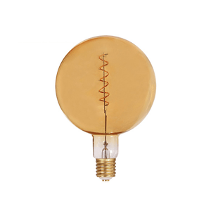 LED Spiral Filament G200 E27 Dimmable Amber - LUXRAY LIGHTING