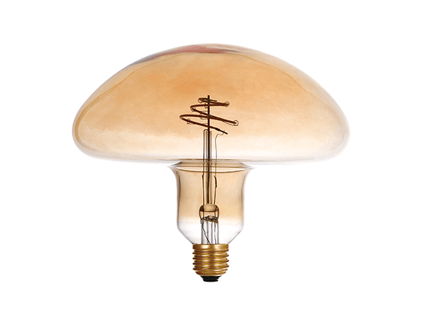 LED Spiral Filament Mushroom E27 Dimmable Amber - LUXRAY LIGHTING 600450