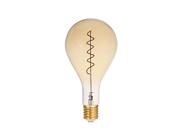 LED Spiral Filament PS160 E27 Dimmable Amber - LUXRAY LIGHTING 600450