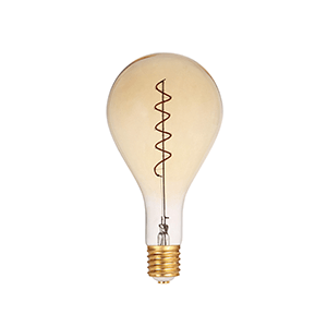 LED Spiral Filament PS160 E27 Dimmable Amber - LUXRAY LIGHTING