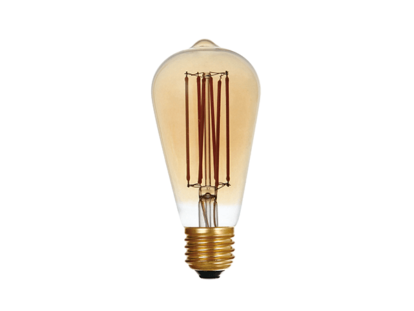 LED Vintage Bulb Lights ST64 Amber - LUXRAY LIGHTING